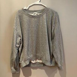 H&M Basic Heather Grey Crewneck Sweatshirt